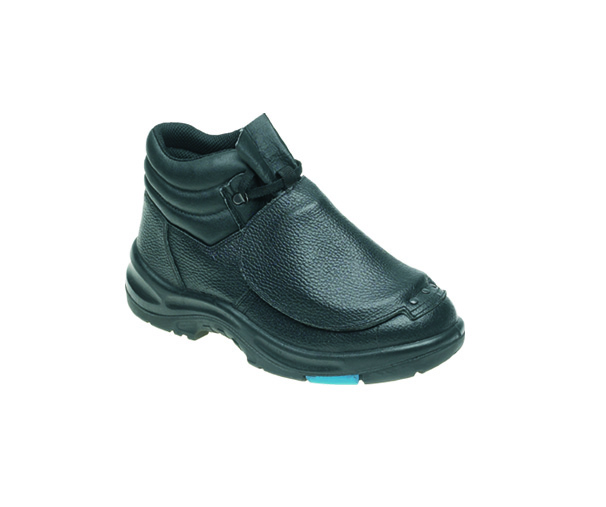 HIMALAYAN Black Leather Metatarsal Safety Boot with Midsole