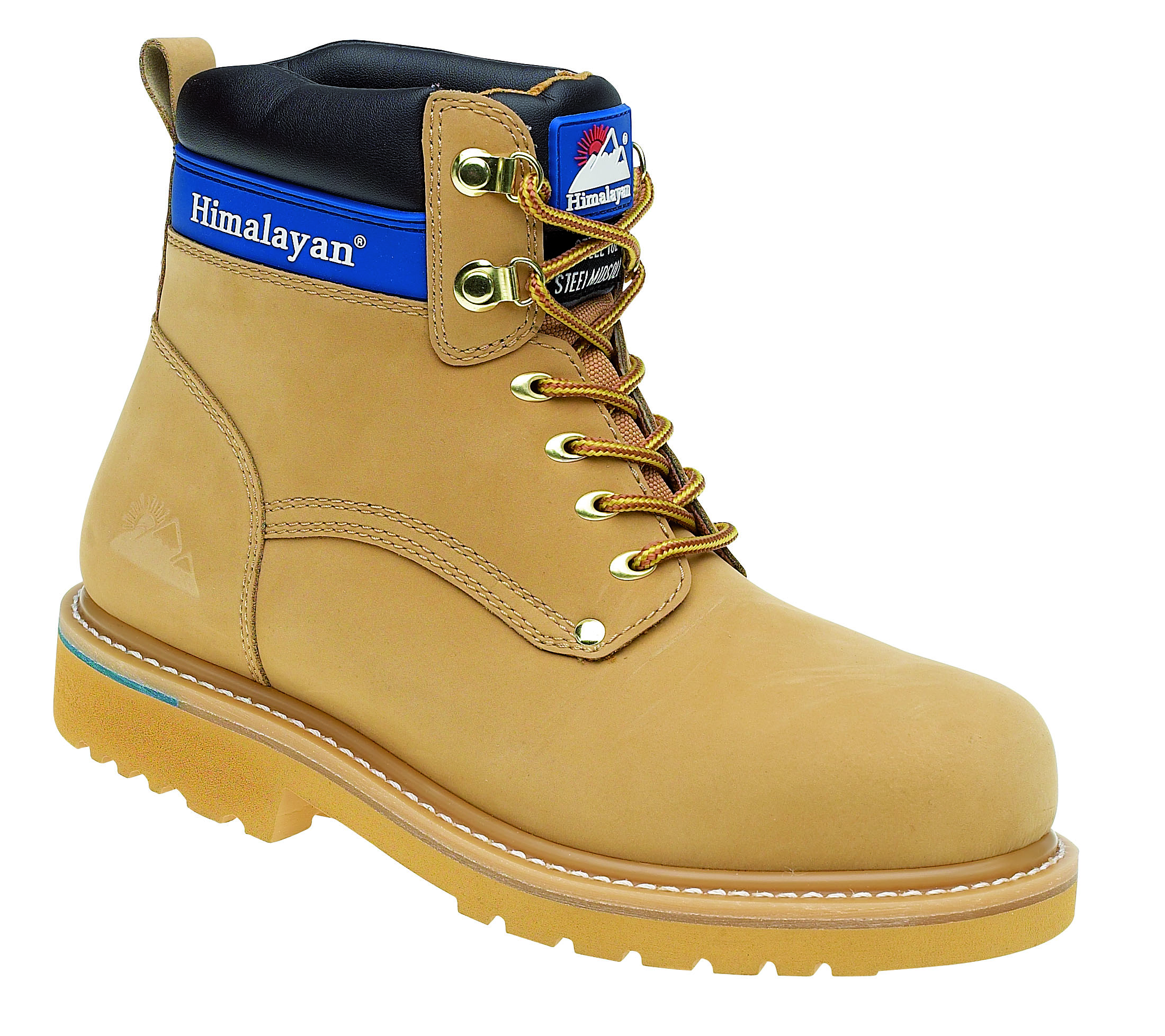 HIMALAYAN Honey Nubuck Goodyear Welted Safety Boot with Midsole