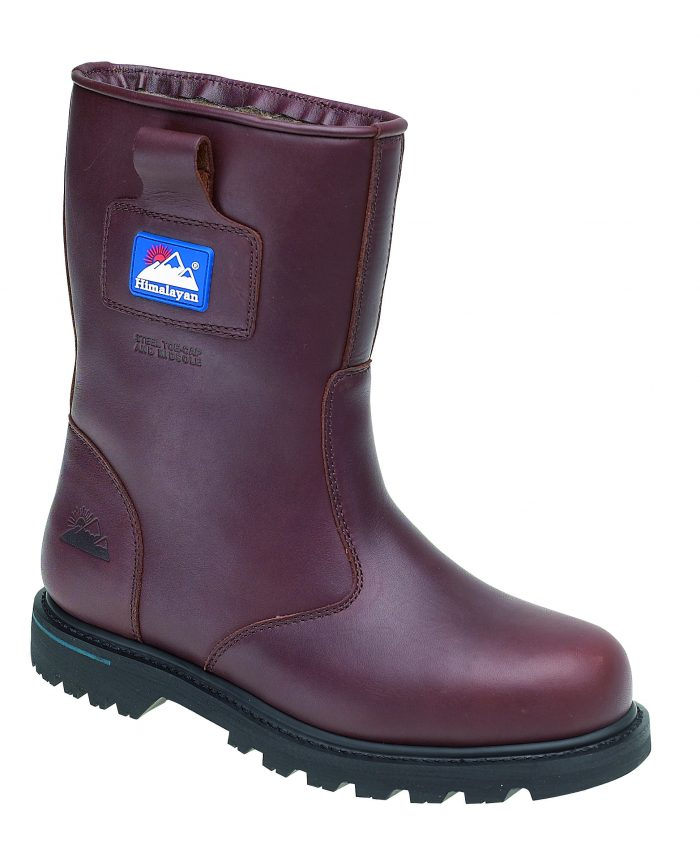HIMALAYAN Brown Full Grain Leather Goodyear Welted Safety Rigger with Midsole