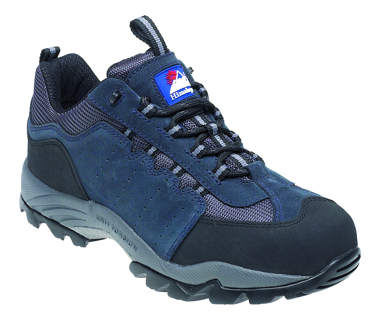 HIMALAYAN Navy Suede Safety Trainer with Gravity Sole and Midsole