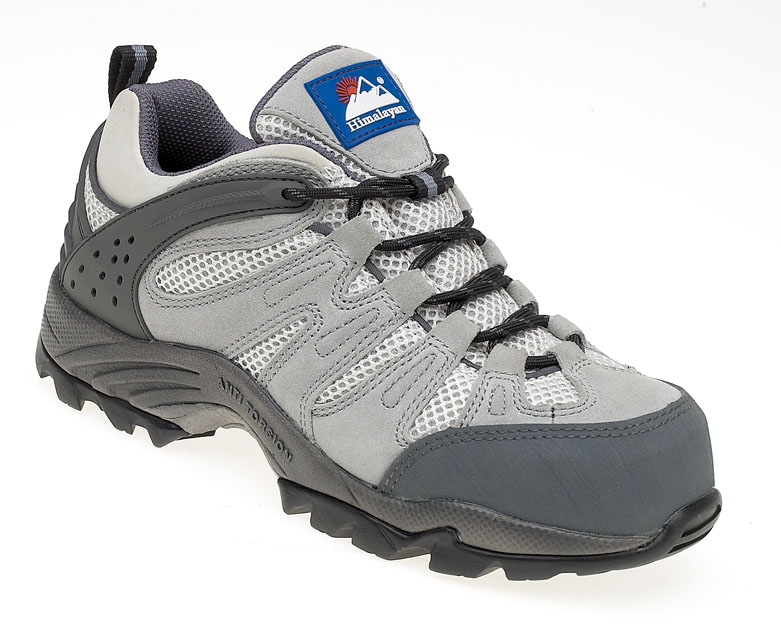 HIMALAYAN Ladies Grey Trainer with Metal Free Cap and Midsole with Gravity Sole