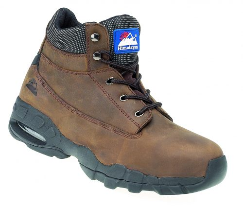 HIMALAYAN Brown Oily Nubuck Safety Boot with EVA/Rubber Sole and Midsole