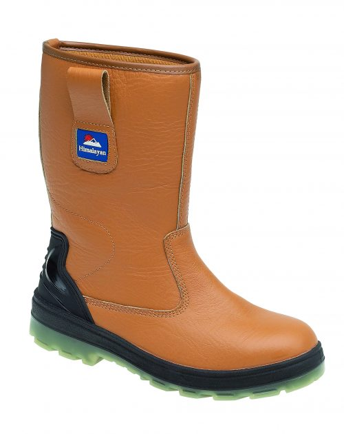 HIMALAYAN Tan Leather Rigger Boot with Midsole TPU Sole