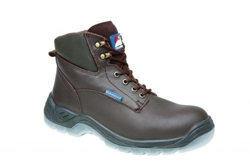 HIMALAYAN Brown Full Grain Leather Safety Boot with TPU Clear Sole & Midsole