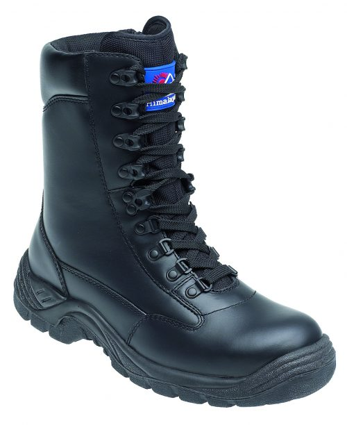 HIMALAYAN Black Leather High Cut Safety Boot with TPU Sole and Midsole