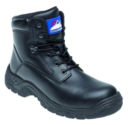 HIMALAYAN Black Leather Safety Boot with TPU Sole and Midsole