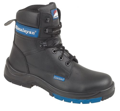 "HIMALAYAN Black Leather HyGrip 7"" Boot PU/Rubber Outsole"