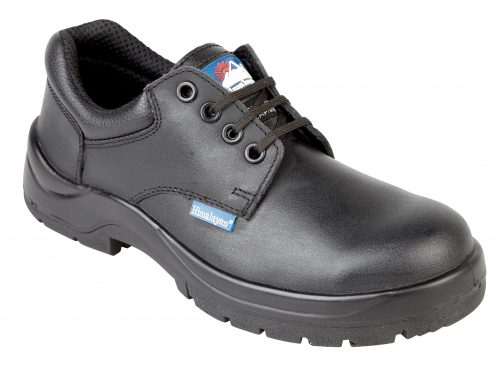 HIMALAYAN Black Leather HyGrip Safety Shoe with Metal Free Toe/Midsole Pu Outsole