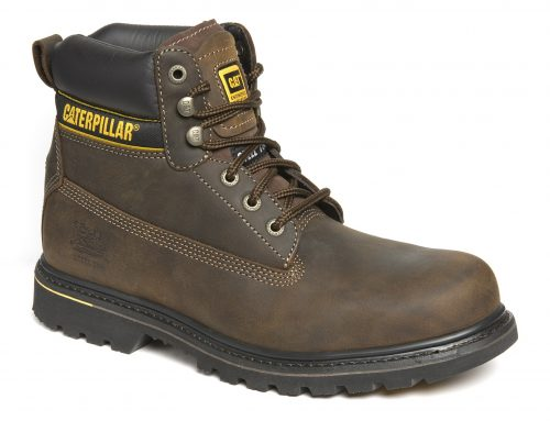 CATERPILLAR Holton Brown Leather Goodyear Welted Safety Boot