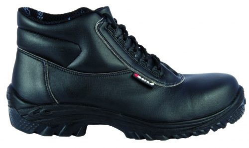 TOESAVERS Black PVC Safety Wellington with Midsole