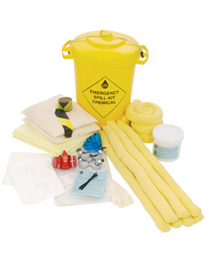 CHEMICAL SPILL AND CONTAINMENT AND RESPOSE 90 LITREKIT DELUXE