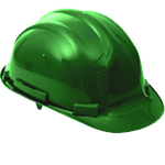 Proforce Head Protection Green Comfort Helmet
