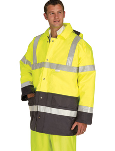 Hi-Vis Two Tone Yellow And Blue Parka Jacket