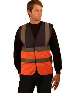 Hi-Vis Two Tone Yellow And Orange Waistcoat