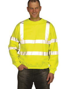 Hi-Vis Yellow Crew Neck Sweatshirt