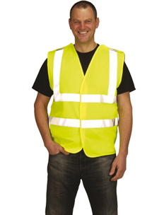 Hi-Vis Yellow Double Banded Waist coat