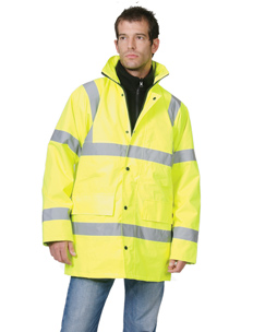 Hi-Vis Yellow Parka Jacket