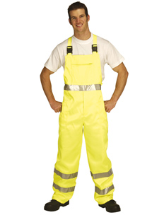 Hi-Vis Yellow Polycotton Bib Trousers