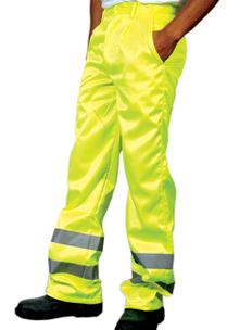 Hi-Vis Yellow Polycotton Trousers