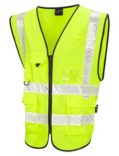 LYNTON - Class 2 Superior Plus Waistcoat Hi-Vis Yellow
