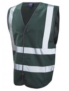 PILTON – Single Colour Reflective Waistcoat – Bottle Green