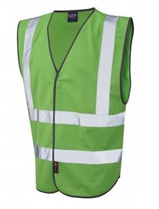 PILTON – Single Colour Reflective Waistcoat – Emerald Green