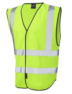 PILTON – Single Colour Reflective Waistcoat – Lime Green