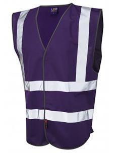 PILTON – Single Colour Reflective Waistcoat – Purple