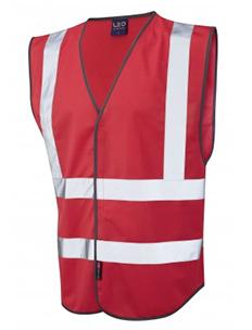 PILTON – Single Colour Reflective Waistcoat – Red
