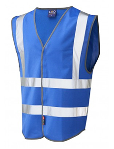 PILTON – Single Colour Reflective Waistcoat – Royal Blue