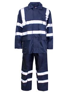Polyester/PVC Hi Vis Rainwear – Rainsuit