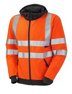 SAUNTON - Class 3 Full Zip Hooded Sweatshirt - Orange
