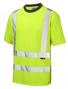Brauton - Class 2 - Cooolviz T-Shirt- Hi-Vis Yellow