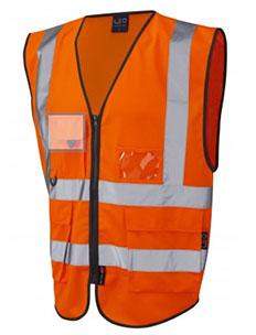 LYNTON - Class 2 Superior Waistcoat Orange Hi-Vis