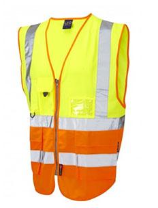 LYNTON - ISO 20471 Class 2 Superior Waistcoat - Hi Vis Yellow & Hi Vis Yellow